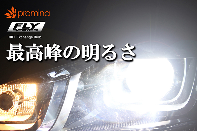 promina HID FLY SERIES HID Exchange Bulb 最高峰の明るさ